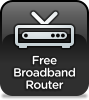 FREE Pre-Configured Broadband Router