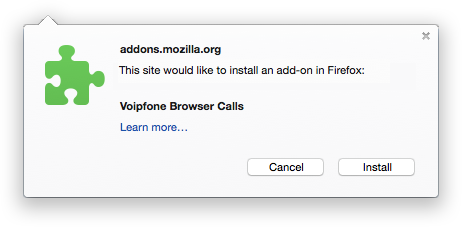 Install Browser Calls extension