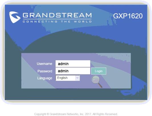 Voipfone - Grandstream GXP1620 Setup Guide