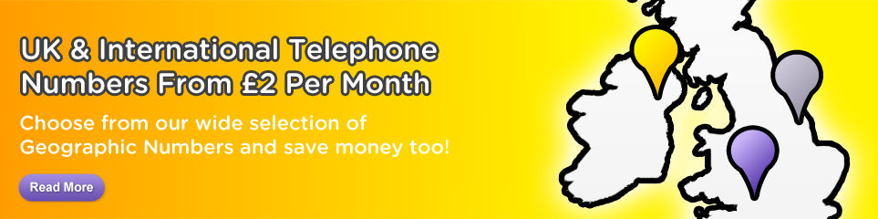 UK & International Telephone Numbers From £2 Per Month