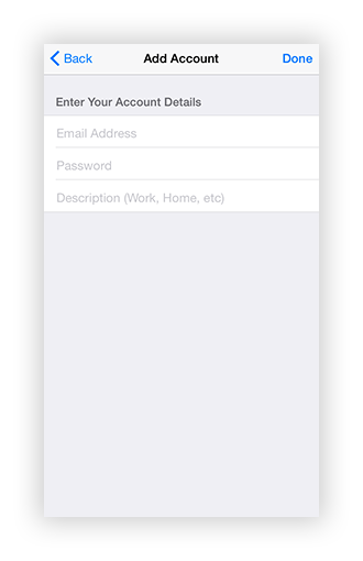 how to add existing email account to iphone